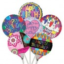 "B41000 Happy Birthday Balloons - 4.5"" (Flat)<br><font color=#365f97>$0.50 each (12 assorted pieces/pack)</font>"