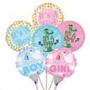 "B42000 Baby Balloons - 4.5"" (Flat)<br><font color=#365f97>$0.50 each (12 assorted pieces/pack)</font>"