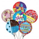 "B43000 Get Well Balloons - 4.5"" (Flat)<br><font color=#365f97>$0.50 each (12 assorted pieces/pack)</font>"