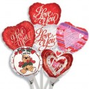 "B44500 Love Balloons - 4.5"" (Inflated)<br><font color=#365f97>$1.00 each (12 assorted pieces/pack)</font>"