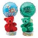 1675CL Christmas Bear Candyloons<br><font color=#365f97>$9.00 each (4 assorted pieces/pack)</font>