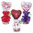 1461CL Valentine Bear Candyloons<br><font color=#365f97>$9.00 each (4 assorted pieces/pack)</font>