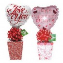 1462CL Valentine Decorative Box Candyloons<br><font color=#365f97>$7.25 each (4 assorted pieces/pack)</font>