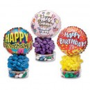 1452CL Happy Birthday Candyloons<br><font color=#365f97>$5.75 each (4 assorted pieces/pack)</font>