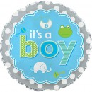 "114074 It's A Boy Icons Balloons - 17"" <br><font color=#365f97>$1.75 each (5 pieces/pack)</font>"