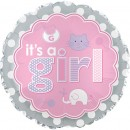 "114082 It's A Girl Icons Balloons - 17"" <br><font color=#365f97>$1.75 each (5 pieces/pack)</font>"