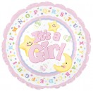 "114289 It's A Girl Moon & Stars Balloons - 17"" <br><font color=#365f97>$1.75 each (5 pieces/pack)</font>"