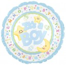 "114290 It's A Boy Moon & Stars Balloons - 17"" <br><font color=#365f97>$1.75 each (5 pieces/pack)</font>"
