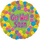 "114343 Get Well Soon Smiley Faces - 17"" <br><font color=#365f97>$1.75 each (5 pieces/pack)</font>"