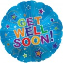 "114369 Get Well Soon Stars Explosion - 17"" <br><font color=#365f97>$1.75 each (5 pieces/pack)</font>"