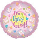 "114502 Baby Girl Bottles Balloons - 17"" <br><font color=#365f97>$1.75 each (5 pieces/pack)</font>"