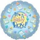 "114503 Baby Boy Bottles Balloons - 17"" <br><font color=#365f97>$1.75 each (5 pieces/pack)</font>"