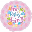 "114504 Baby Girl Footsies Balloons - 17"" <br><font color=#365f97>$1.75 each (5 pieces/pack)</font>"