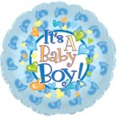 "114505 Baby Boy Footsies Balloons - 17"" <br><font color=#365f97>$1.75 each (5 pieces/pack)</font>"
