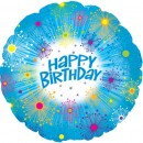 "114542 Happy Birthday Starburst Balloons - 17"" <br><font color=#365f97>$1.75 each (5 pieces/pack)</font>"