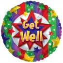 "114544 Get Well Stars Balloons - 17"" <br><font color=#365f97>$1.75 each (5 pieces/pack)</font>"