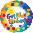 "114547 Get Well Wishes Balloons - 17"" <br><font color=#365f97>$1.75 each (5 pieces/pack)</font>"