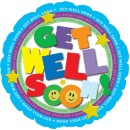 "114610 Get Well Soon! Balloons - 17"" <br><font color=#365f97>$1.75 each (5 pieces/pack)</font>"