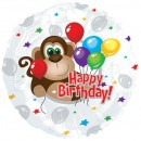 "114862 Happy Birthday Monkey Balloons - 17"" <br><font color=#365f97>$1.75 each (5 pieces/pack)</font>"