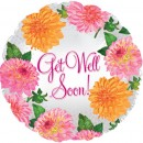 "115301 Get Well Soon Flowers Balloons - 17"" <br><font color=#365f97>$1.75 each (5 pieces/pack)</font>"