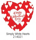 "214021 Simply White Hearts Heart Shaped Balloons - 17"" <br><font color=#365f97>$1.75 each (5 pieces/pack)</font>"