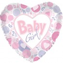 "214140 Baby Girl Hearts Balloons - 17"" <br><font color=#365f97>$1.75 each (5 pieces/pack)</font>"