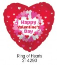 "214293 Ring of Hearts Heart Shaped Balloons - 17"" <br><font color=#365f97>$1.75 each (5 pieces/pack)</font>"
