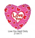 "214477 Love You Heart Doily Heart Shaped Balloons - 17"" <br><font color=#365f97>$1.75 each (5 pieces/pack)</font>"