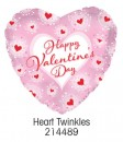 "214489 Heart Twinkles Heart Shaped Balloons - 17"" <br><font color=#365f97>$1.75 each (5 pieces/pack)</font>"