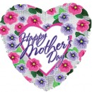 "214524 Happy Mother's Day Pansies Balloons - 17"" <br><font color=#365f97>$1.75 each (5 pieces/pack)</font>"
