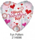 "214696 Fun Pattern Heart Shaped Balloons - 17"" <br><font color=#365f97>$1.75 each (5 pieces/pack)</font>"