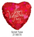 "214814 Script Type Heart Shaped Balloons - 17"" <br><font color=#365f97>$1.75 each (5 pieces/pack)</font>"