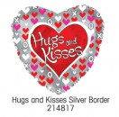"214817 Hugs and Kisses Heart Shaped Balloons - 17"" <br><font color=#365f97>$1.75 each (5 pieces/pack)</font>"