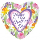 "215655 Happy Mother's Day Daffodils Heart Shaped Balloons - 17"" <br><font color=#365f97>$1.75 each (5 pieces/pack)</font>"
