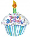 "414018 Happy Birthday Cupcake Balloons - 17"" <br><font color=#365f97>$1.75 each (5 pieces/pack)</font>"