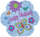 "414478 Happy Birthday Flower Shaped Balloons - 17"" <br><font color=#365f97>$1.75 each (5 pieces/pack)</font>"