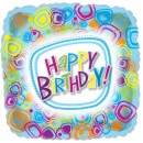 "414701 Happy Birthday Designs Balloons - 17"" <br><font color=#365f97>$1.75 each (5 pieces/pack)</font>"