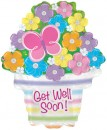 "434108 Get Well Soon Basket Balloons - 17"" <br><font color=#365f97>$1.75 each (5 pieces/pack)</font>"