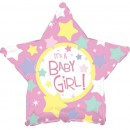 "814613 It's A Girl Star Shape Balloons - 17"" <br><font color=#365f97>$1.75 each (5 pieces/pack)</font>"