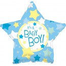 "814614 It's A Boy Star Shape Balloons - 17"" <br><font color=#365f97>$1.75 each (5 pieces/pack)</font>"