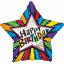 "814870 Happy Birthday Star Shape Balloons - 17"" <br><font color=#365f97>$1.75 each (5 pieces/pack)</font>"