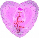 "214032 Champagne Clink Heart Shaped Balloon - 17"" <br><font color=#365f97>$1.75 each (5 pieces/pack)</font>"