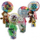 1474CL Easter/Spring Bear Huggum Candyloons<br><font color=#365f97>$10.50 each (4 assorted pieces/pack)</font>