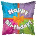 "414314 Happy Birthday Present Balloons - 17"" <br><font color=#365f97>$1.75 each (5 pieces/pack)</font>"