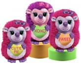 V3155 Hedgehog Lovs - 10&quot;<br><font color=#365f97>$11.00 each (3 assorted pieces/pack)</font>