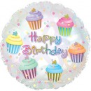 "114157 Happy Birthday Cupcakes Balloon - 17"" <br><font color=#365f97>$1.75 each (5 pieces/pack)</font>"
