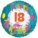 "114164 Happy 18th Birthday Balloon - 17"" <br><font color=#365f97>$1.75 each (5 pieces/pack)</font>"