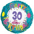 "114166 Happy 30th Birthday Balloon - 17"" <br><font color=#365f97>$1.75 each (5 pieces/pack)</font>"