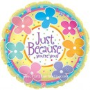 "114500 Just Because Balloons - 17"" <br><font color=#365f97>$1.75 each (5 pieces/pack)</font>"