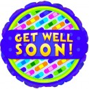 "115031 Get Well Soon Bandaids Balloons - 17"" <br><font color=#365f97>$1.75 each (5 pieces/pack)</font>"